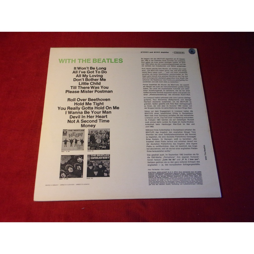 the beatles * With The Beatles - Import Allemand