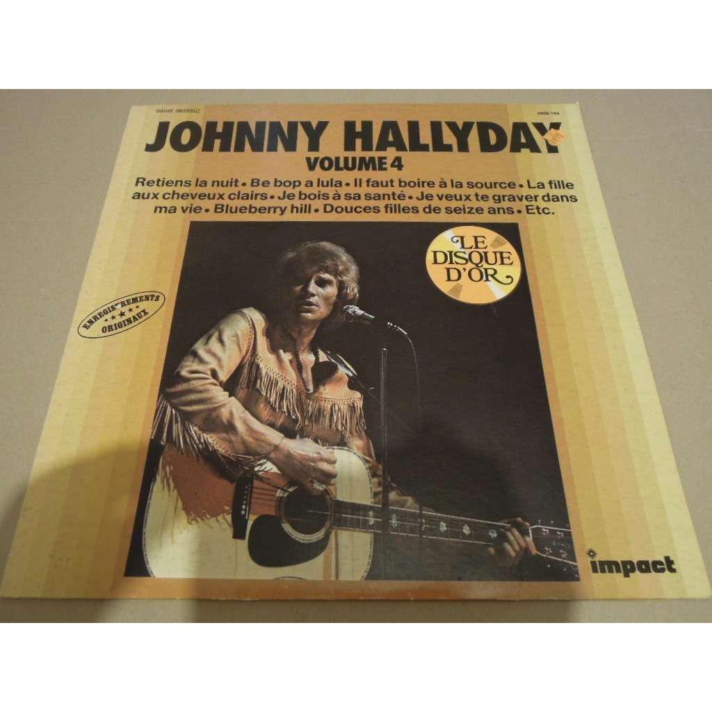 johnny hallyday 2 lp lot impact disque d'or volume 4 & 8