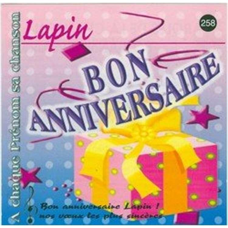 Pascal Rivière Bon Anniversaire Lapin