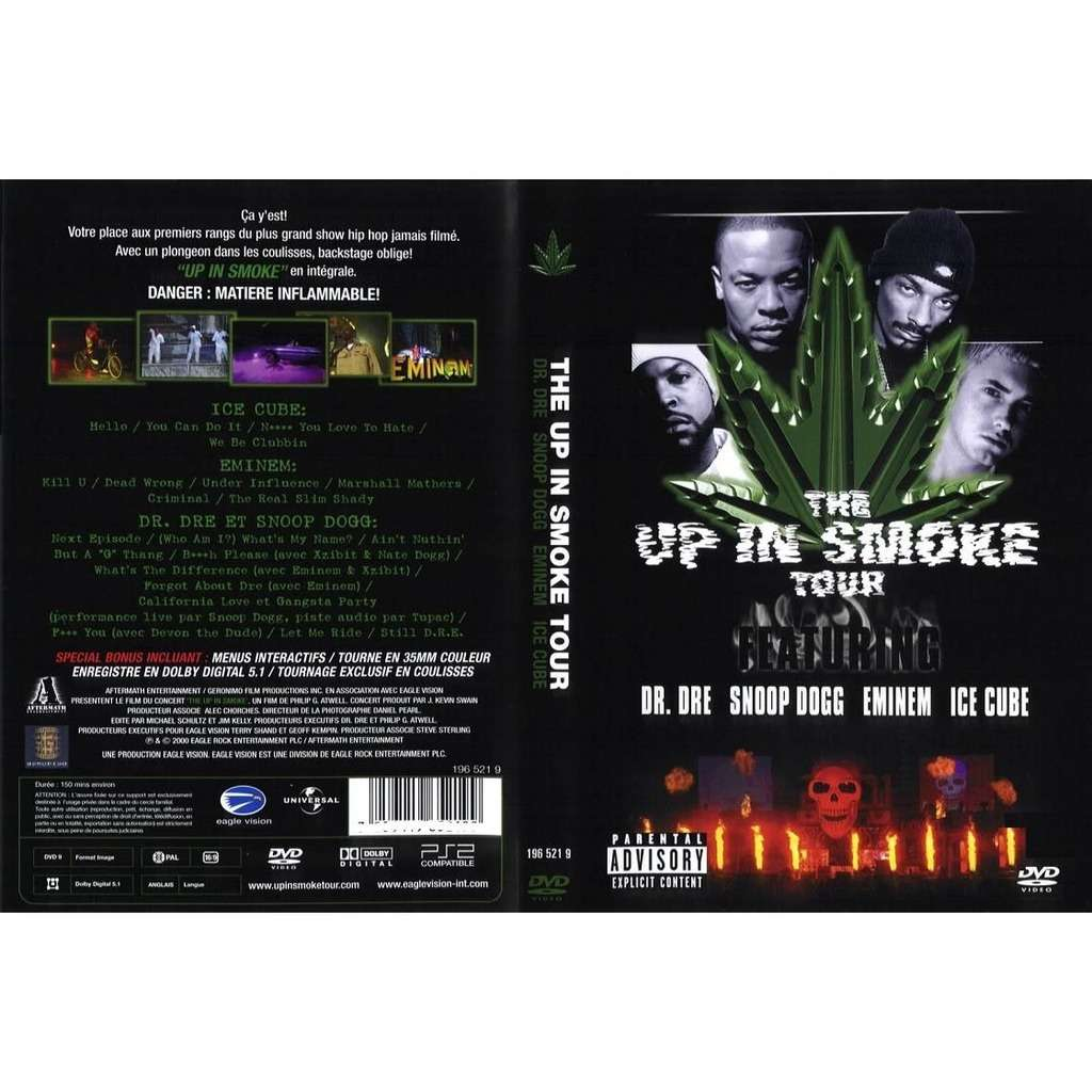 dr.dre-snoop dogg-eminem-ice cube The Up In Smoke Tour