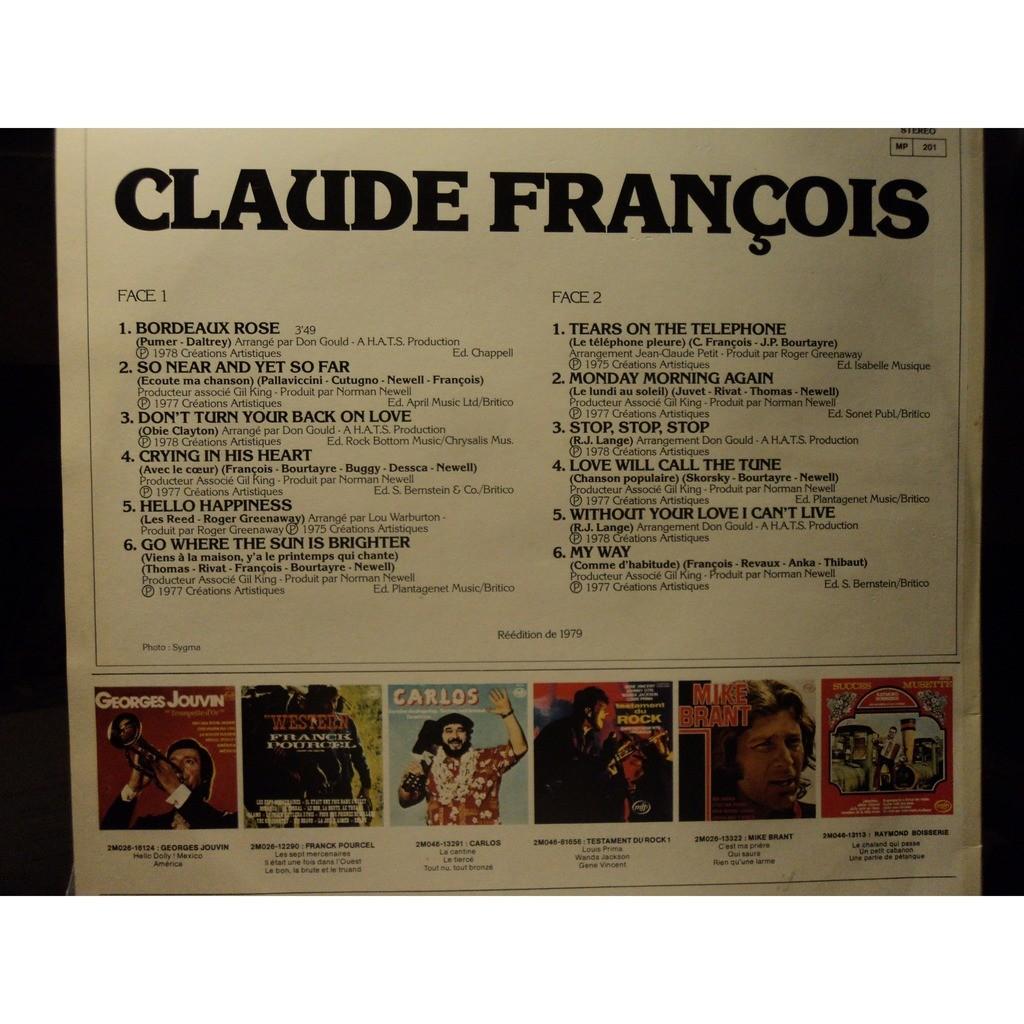 FRANCOIS, Claude Claude François chante en anglais