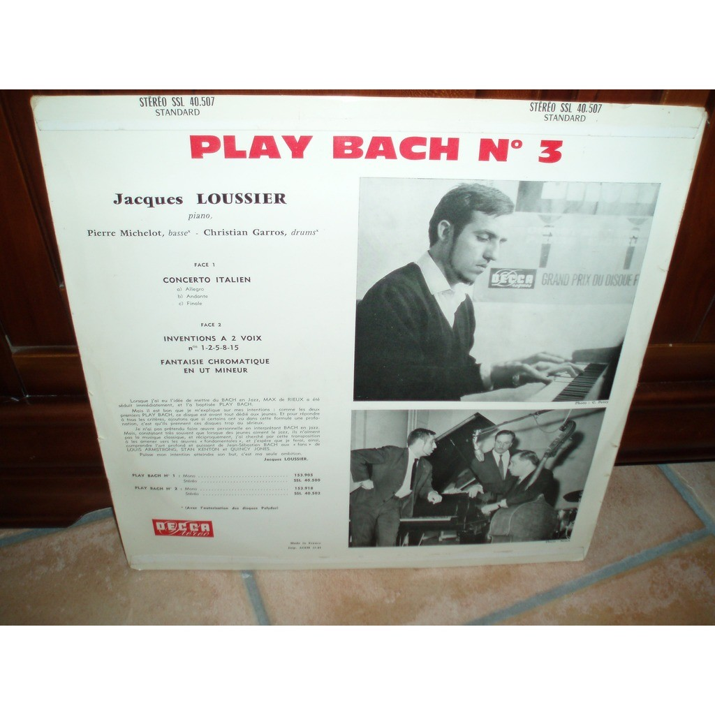 JACQUES LOUSSIER PLAY BACH N°3