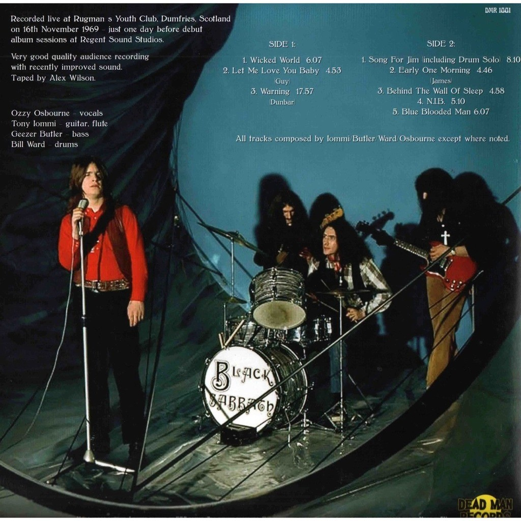 Black Sabbath Live In Dumfries November 1969 (lp) Ltd Edit Gatefold Sleeve -E.U