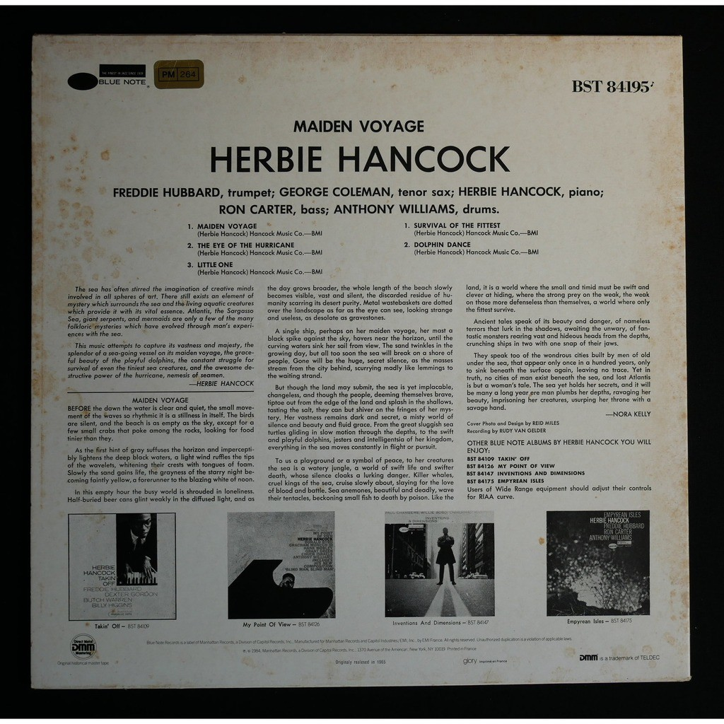 Herbie Hancock Maiden Voyage