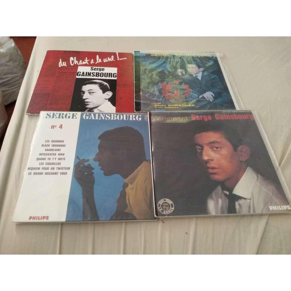 Serge Gainsbourg Les quatres 25 cm