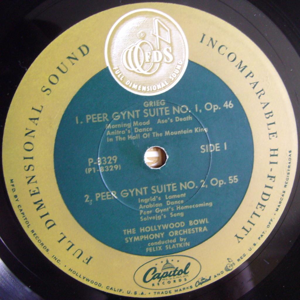FELIX SLATKIN Grieg Peer Gynt, Ippolitov-Ivanov Caucasian Sketches USA CAPITOL P8929 NM-