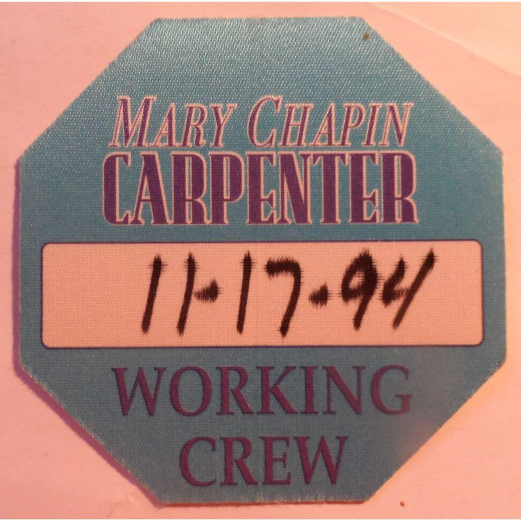 Mary Chapin Carpenter Mary Chapin Carpenter Working Crew Pass Otto