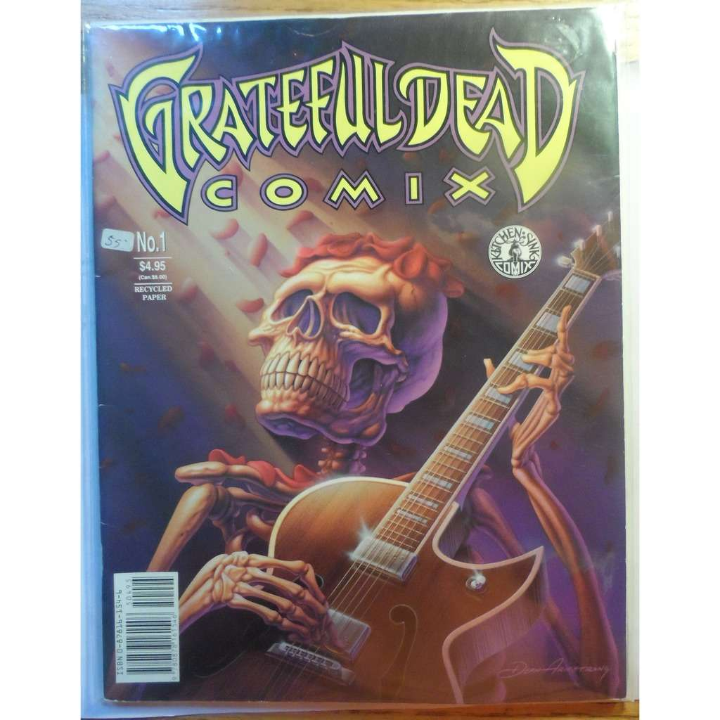 Grateful Dead Grateful Dead Comix Comics Issue Number 1 Kitchen Sink Limited Run For DEAD Show