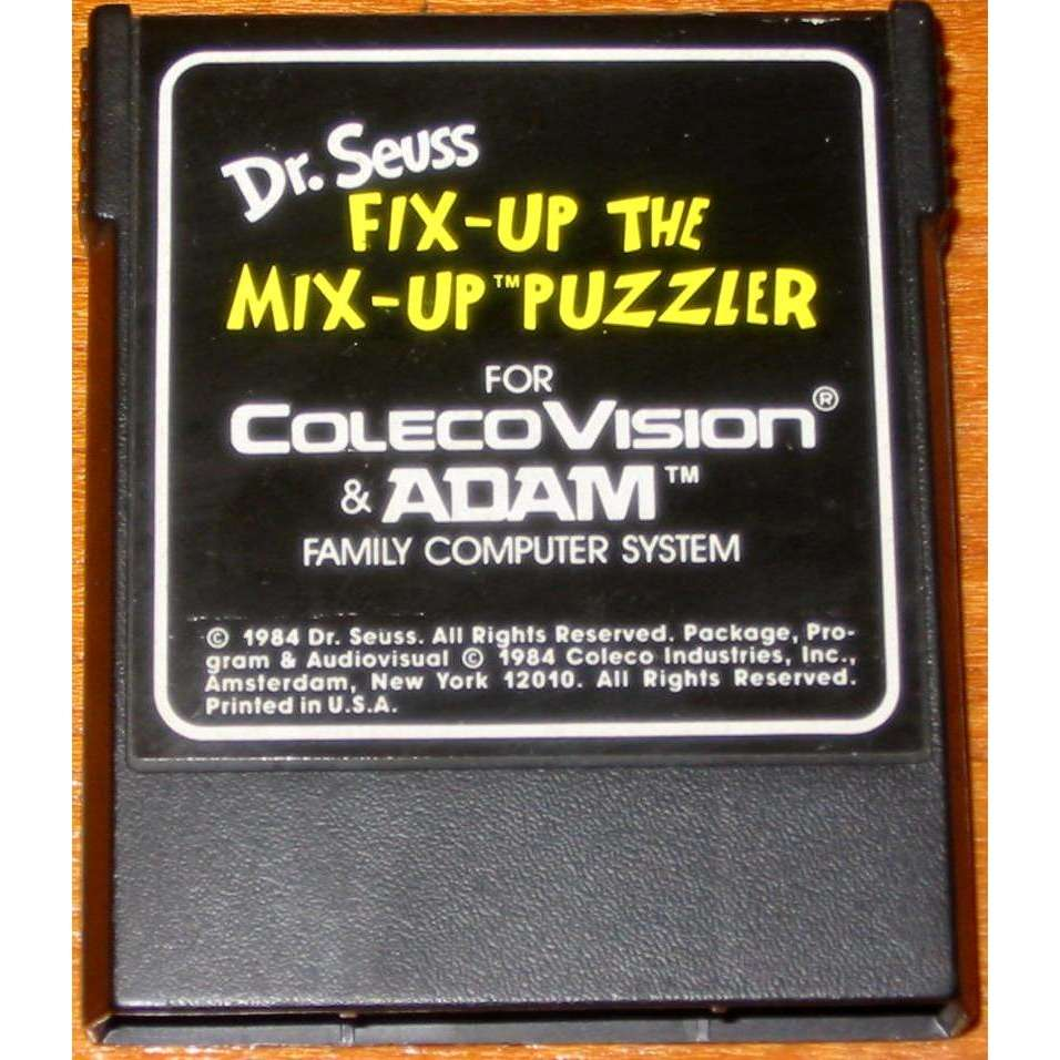 ColecoVision Dr Seuss Fix Up the Mix Up Puzzler - Cartridge Only - TESTED