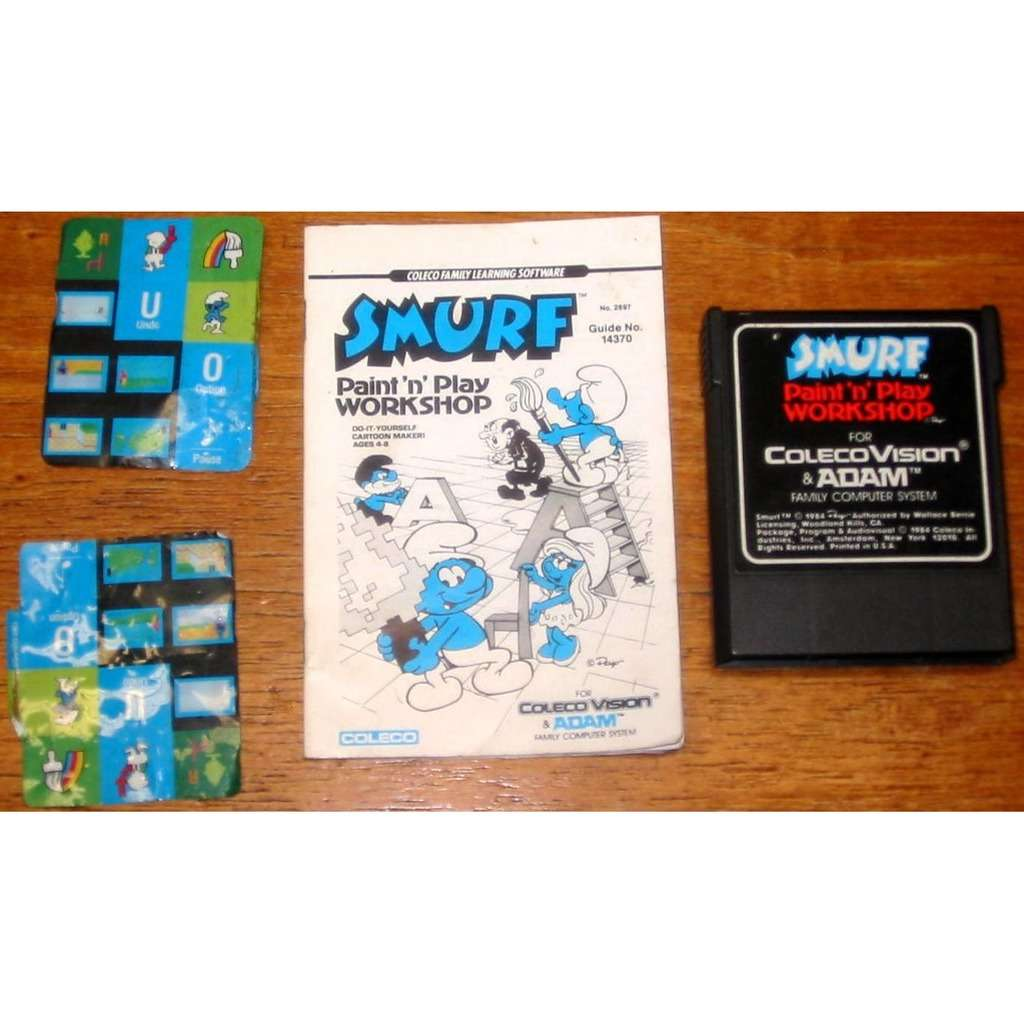 ColecoVision SMURF Paint N Play Workshop