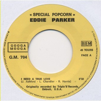 EDDIE PARKER Special POPCORN : I need a true love / Crying clown