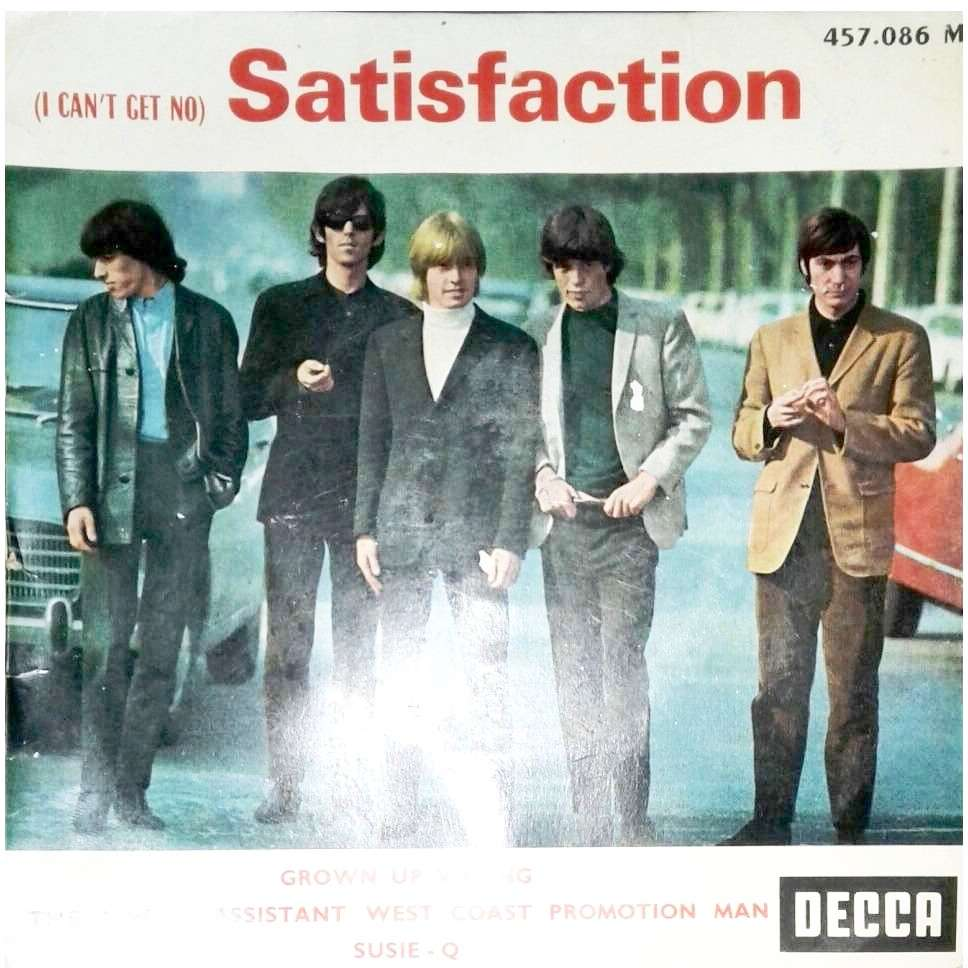 ROLLING STONES (titres bleus) (I CAN'T GET NO) SATISFACTION + GROWN UP WRONG / THE UNDER ASSISTANT WEST COAST /susie q