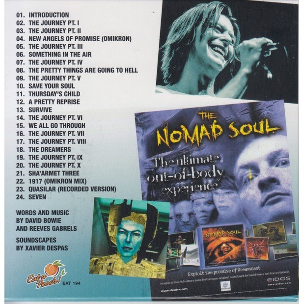 DAVID BOWIE JOURNEY TO OMIKRON CITY (THE NOMAD SOUL SOUNDTRACK) CD