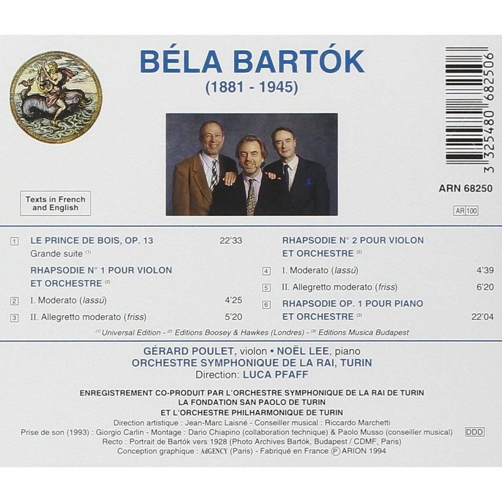 Le Prince De Bois Rhapsodies Nos1 2 Op1 Orchestra Sinfonica Di Torino Della Rai Luca Pfaff By Bartók Béla Cd With Melomaan