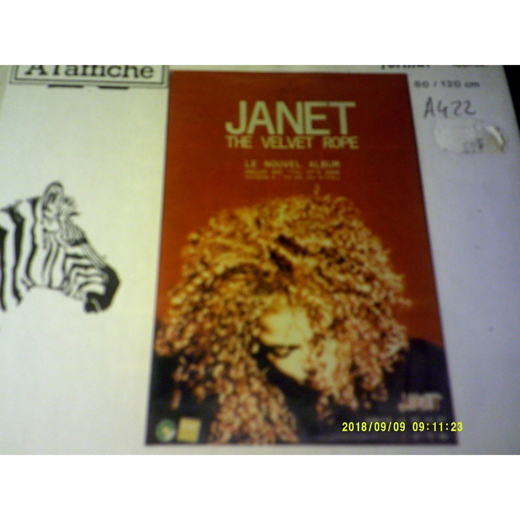 Affiche 80 x120 the velvet rope by Janet Jackson, Poster / Display with  oemie