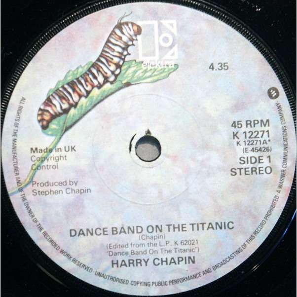 Chapin, Harry Dance Band On The Titanic