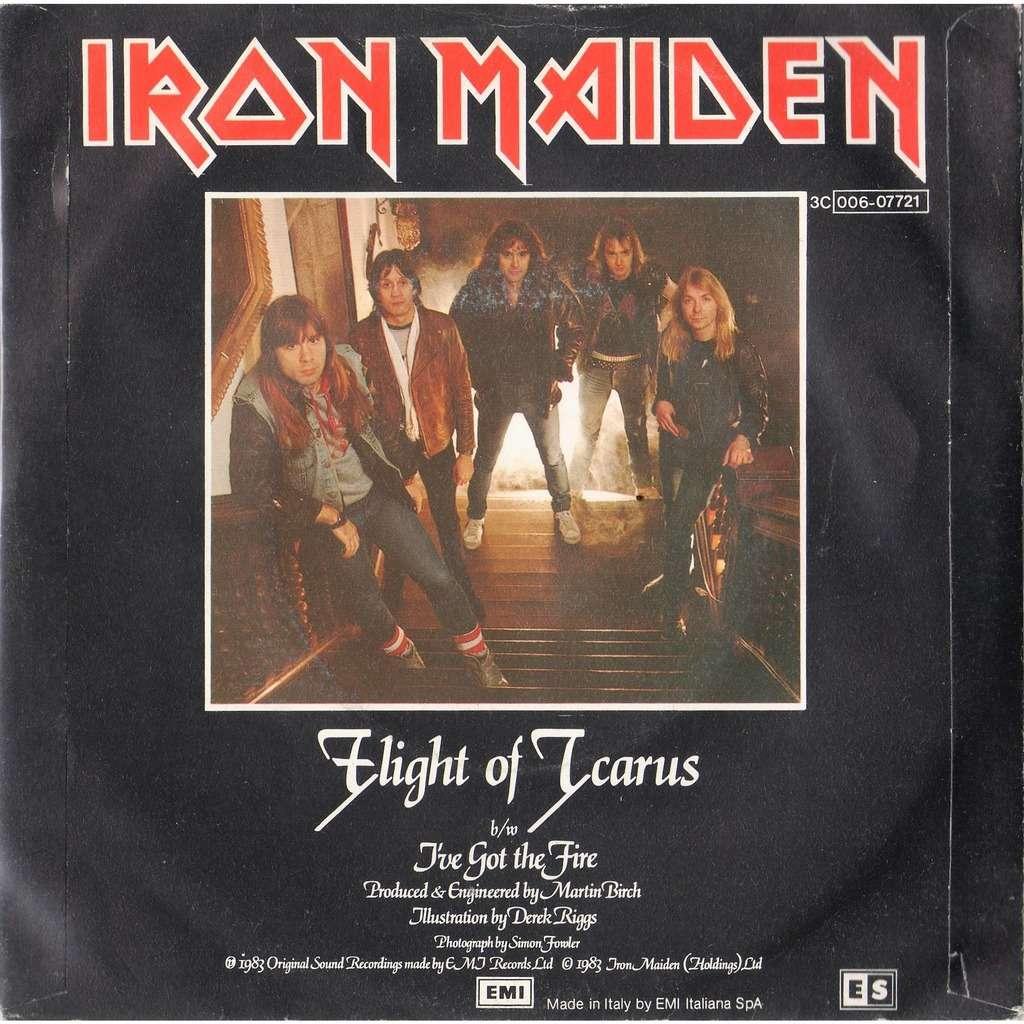 iron maiden Flight Of Icarus (Italian 1983 'ES' promo 2-trk 7single full unique 'ES' back ps)