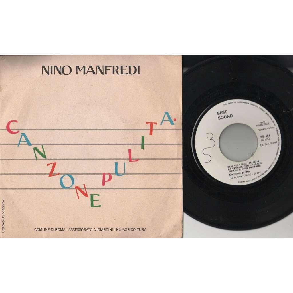 Nino Manfredi Canzone Pulita (Italian 1982 2-trk w/label 7single promo full ps)