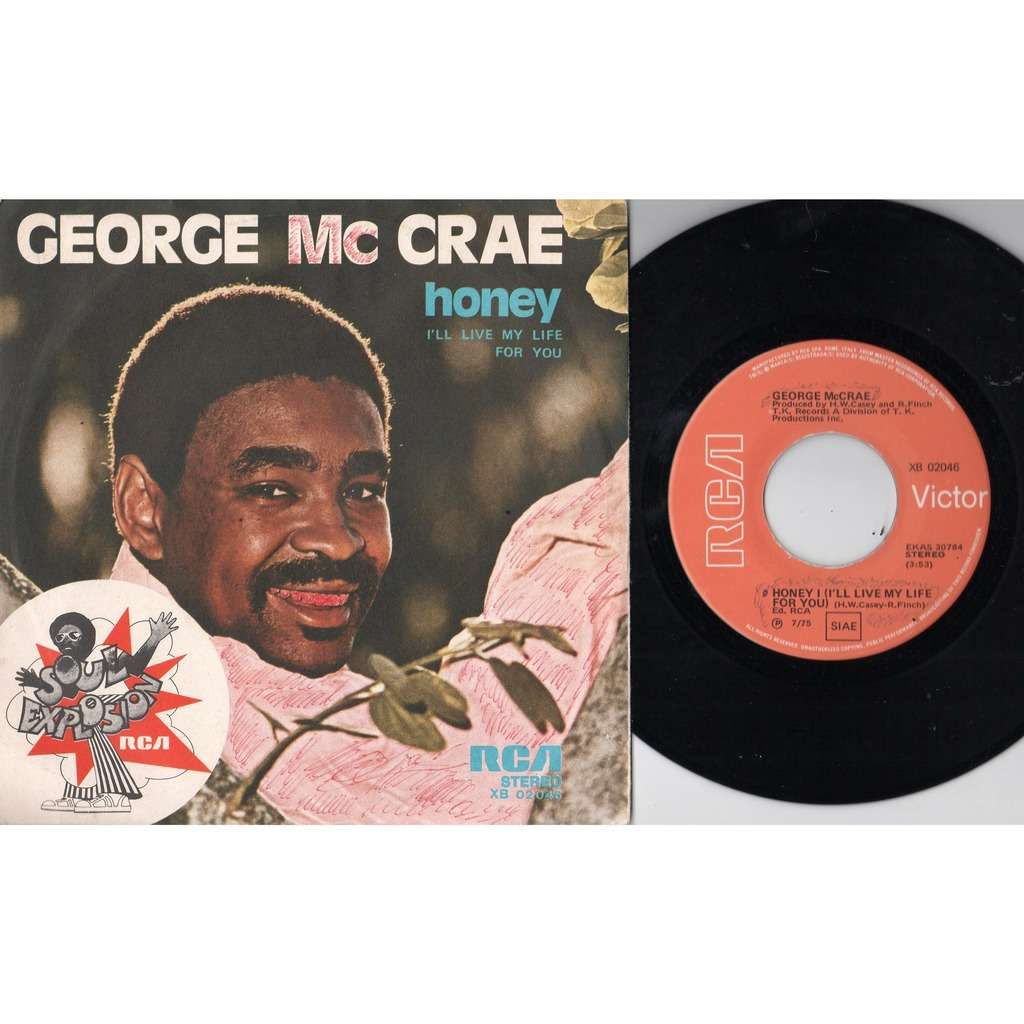 George McCrae Honey (Italian 1975 2-trk 7single full ps)