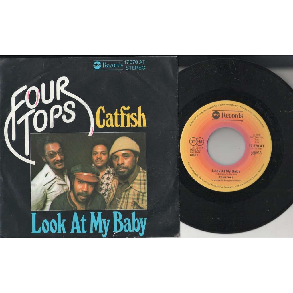 Four Tops Catfish (German 1976 2-trk 7single full ps)