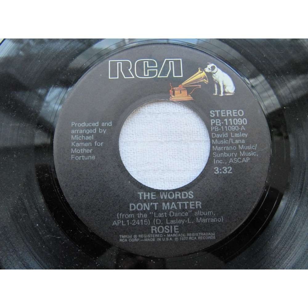 Rosie The Words Don't Matter / Mississippi Baby