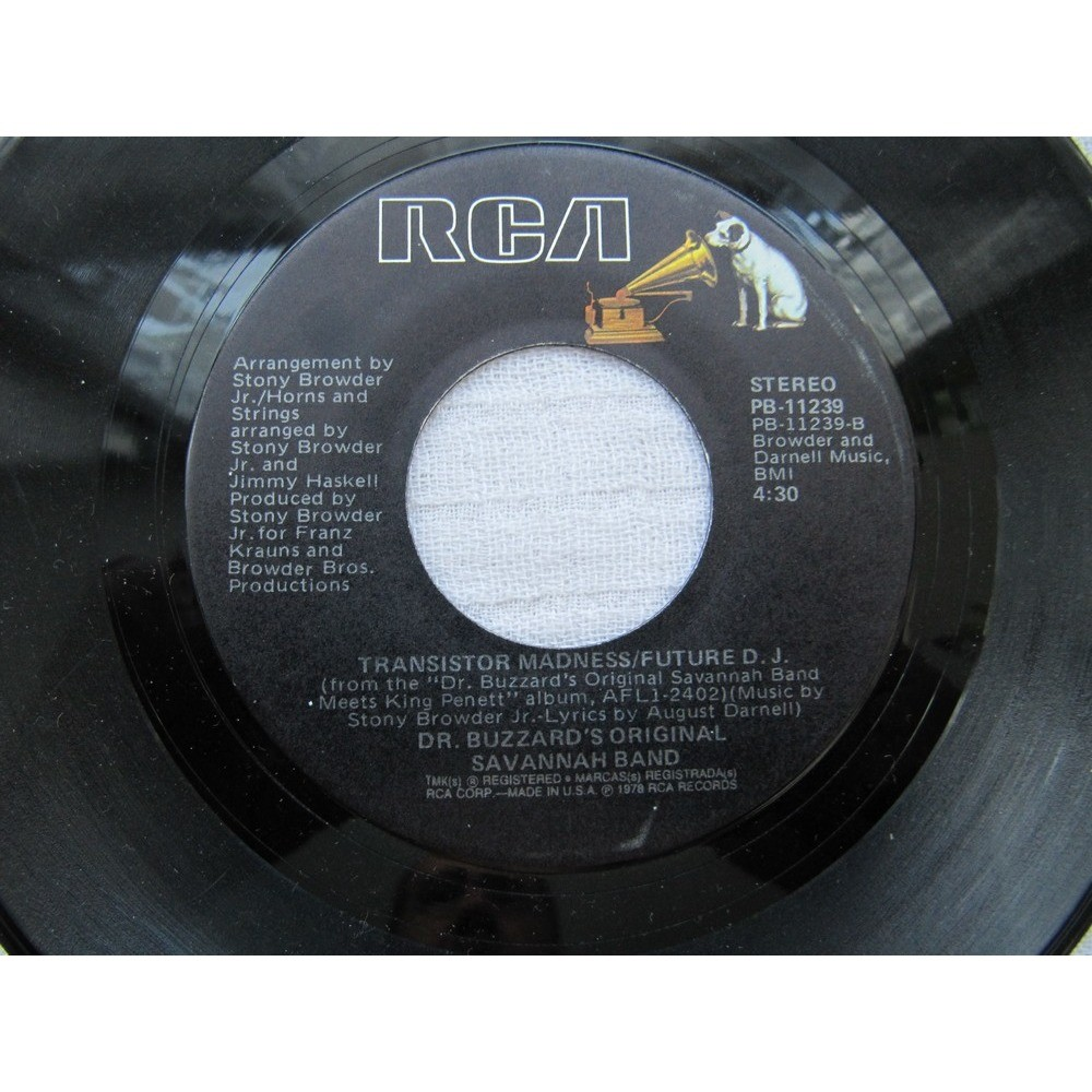 Dr. Buzzard's Original Savannah Band Mister Love / Transistor Madness/Future D.J.
