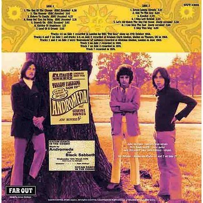 Andromeda Return To Sanity - A Collection Of Rare Tracks 1968-1970 (lp) Ltd Edit Gatefold Sleeve -E.U