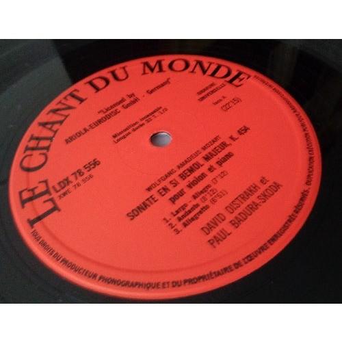 DAVID OISTRAKH & PAUL BADURA SKODA MOZART Sonates piano & violon