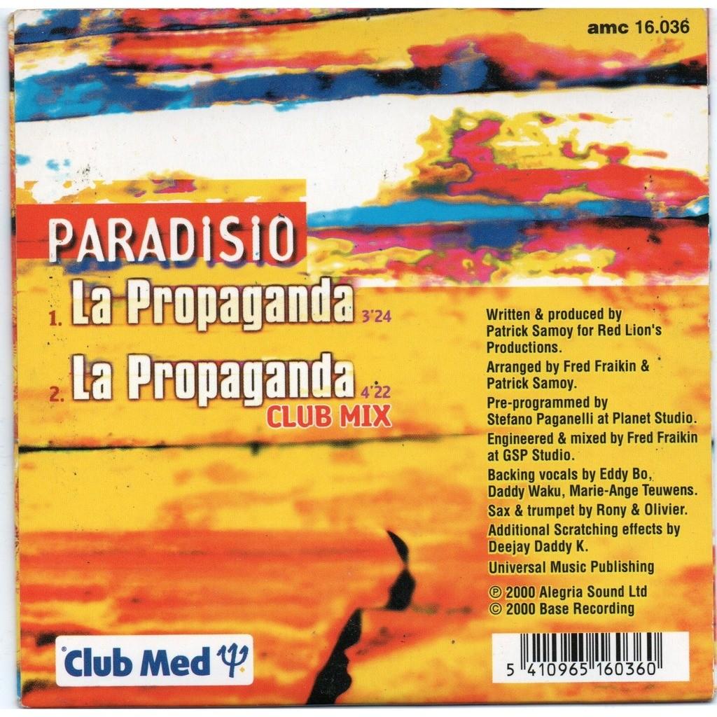 paradisio la propaganda