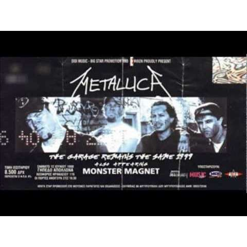 Metallica Metallica & Monster Magnet Athens concert 1999 ticket