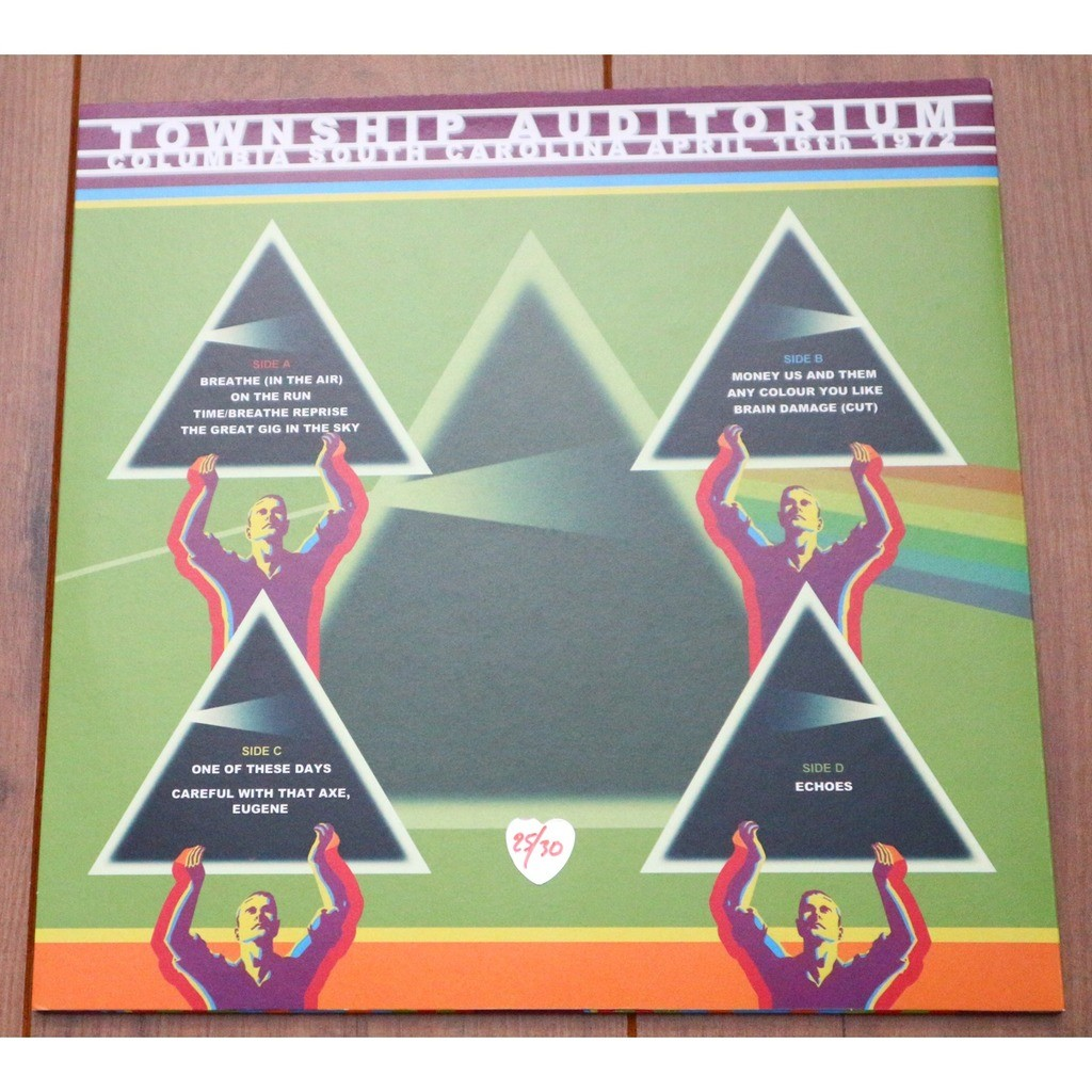 Pink Floyd Dark Side Of The Moon Tour (Township Auditorium - April 16th 1972) - Nr. 25/30 - YELLOW/ RED VINYL