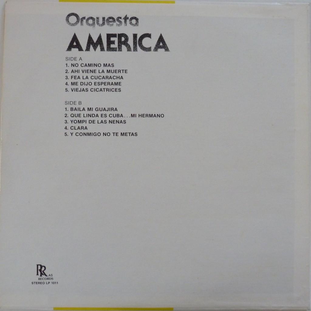 orquesta américa no camino más + 9
