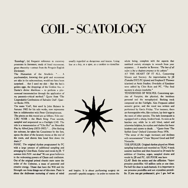 Coil ‎ Scatology (lp)