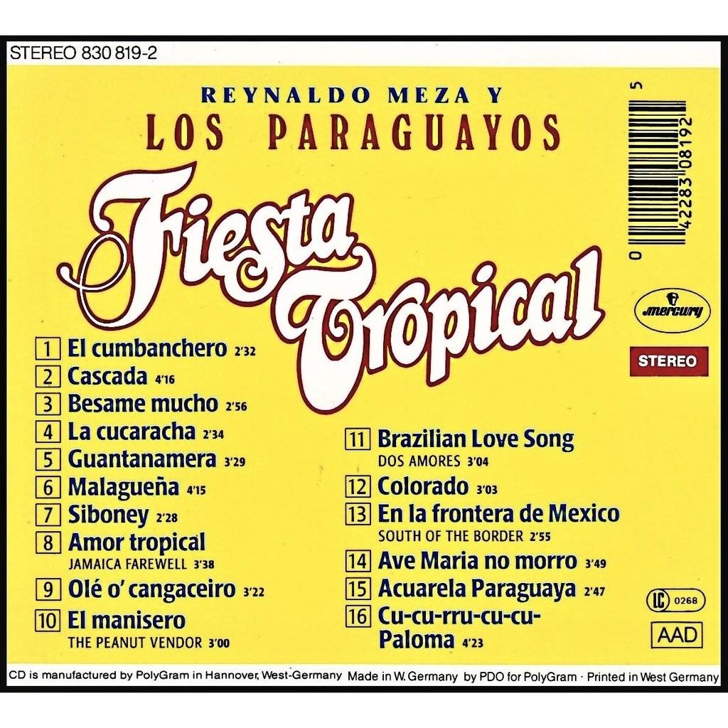Reynaldo Meza Y Los Paraguayos Fiesta Tropical