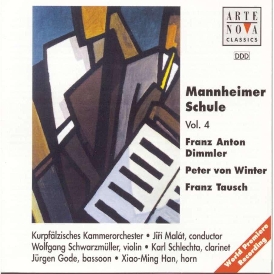 Dimmler / Winter / Tausch Mannheimer Schule Vol 4 / Kurpfälzisches Chamber Orchestra, Jiri Malát