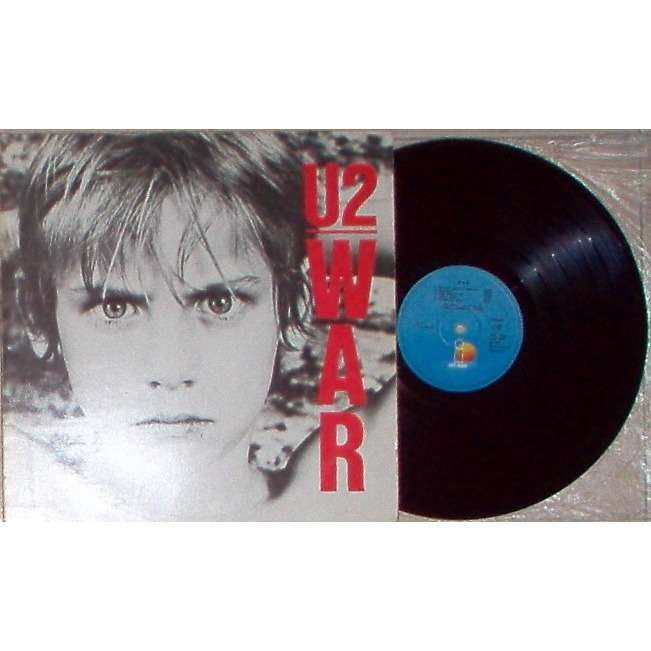 u2 War (Yougoslavia 1983 original 10-trk LP on blu Island-Jugoton lbl full gf ps)
