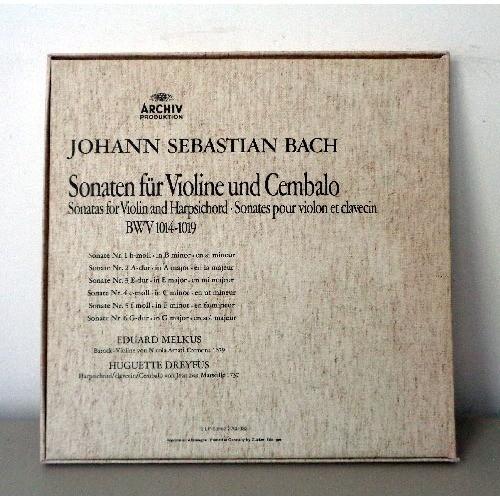 EDUARD MELKUS & HUGUETTE DREYFUS JS BACH Sonaten fur violine und cembalo