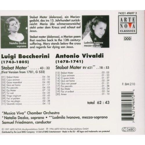 Boccherini / Vivaldi Stabat Mater / Natalia Dazko, Ludmilla Ivanova, Musica Viva Chamber Orchestra, Samuel Friedmann