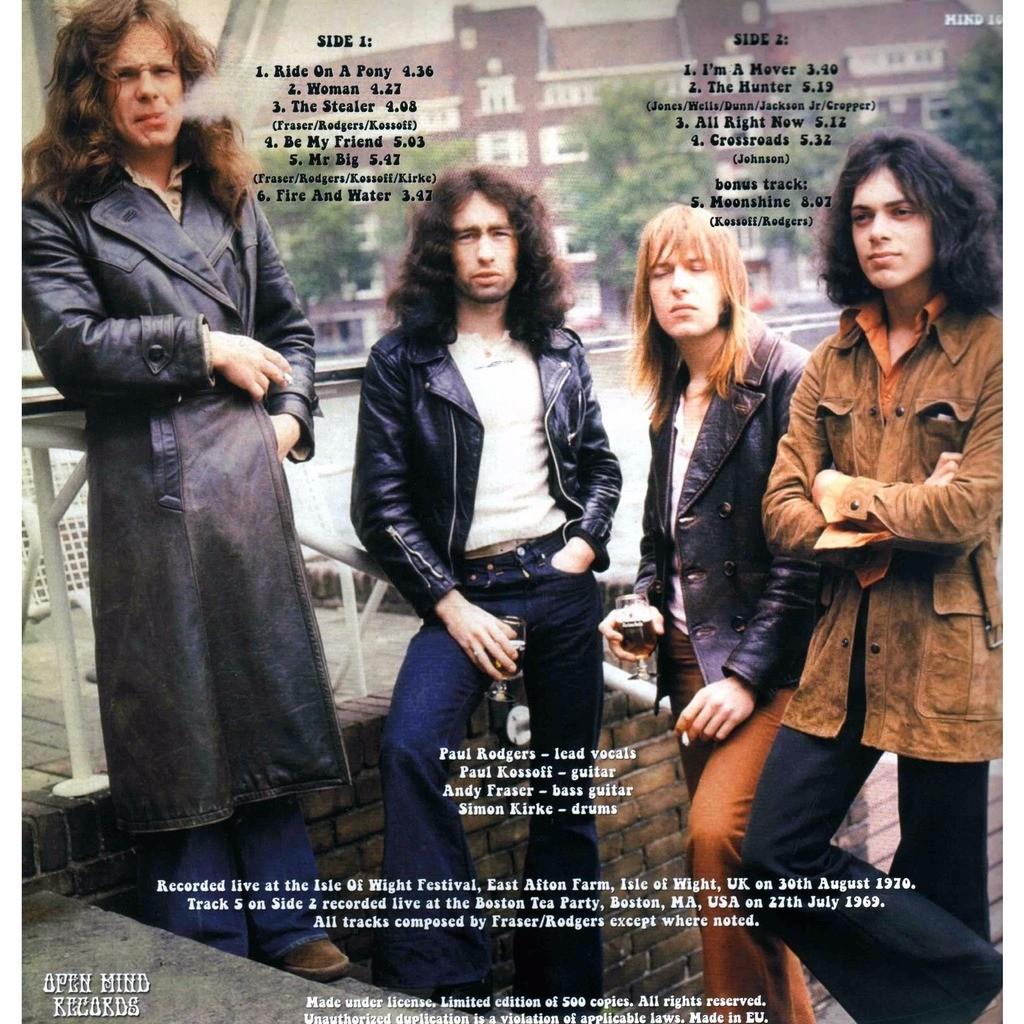 Free Live At The Isle Of Wight 1970 (lp) Ltd Edit Gatefold Sleeve -E.U