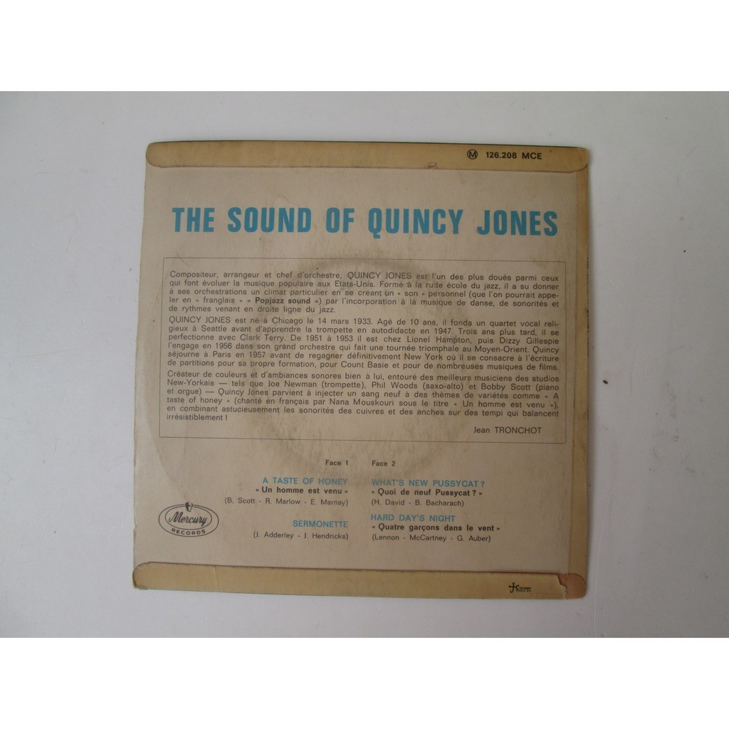 Quincy Jones (The Sound Of Quincy Jones) A Taste Of Honey / Sermonette / What's A New Pussycat ? / Hard Day's Night
