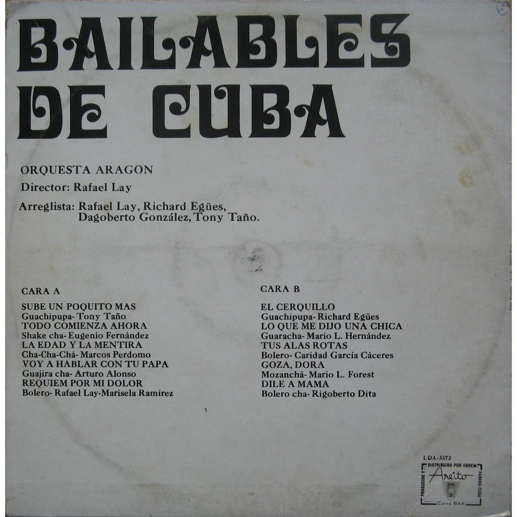 orquesta aragón bailables de cuba