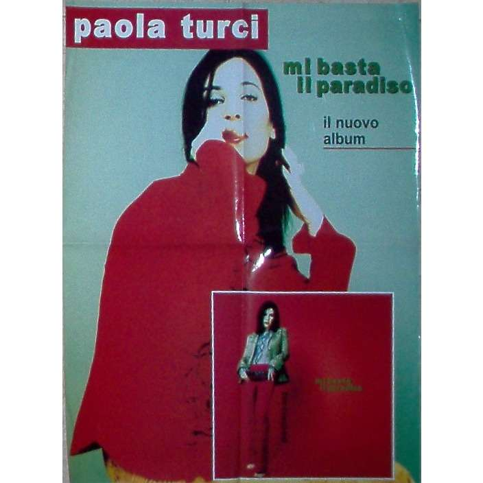 Paola Turci Mi Basta Il paradiso (Italian 2000 Wea original 'album release' promo shop poster!!)