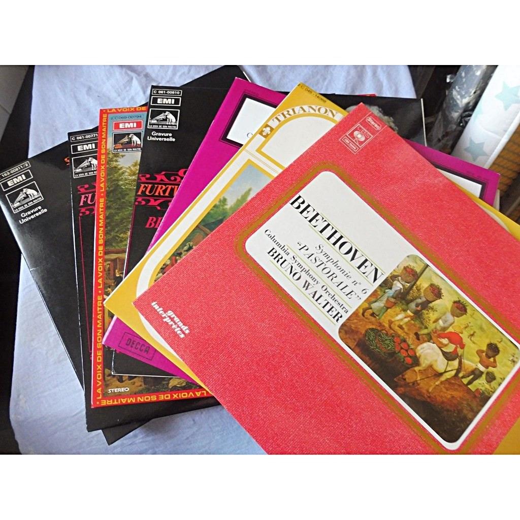 furtwängler, schmidt-issertedt, walter, schuricht Beethoven : the nine symphonies - ( very rare 8 lp set box near mint condition )