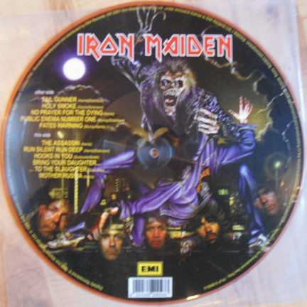 iron maiden no prayer for the dying (uk promo ltd lp picture disc)