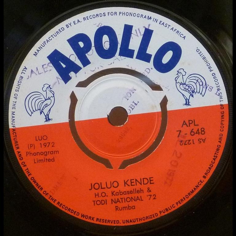 TODI NATIONAL '72 Joluo kende / Makwero