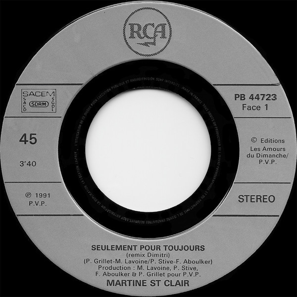 Martine St Clair Seulement Pour Toujours (Remix Dimitri) / Pardon