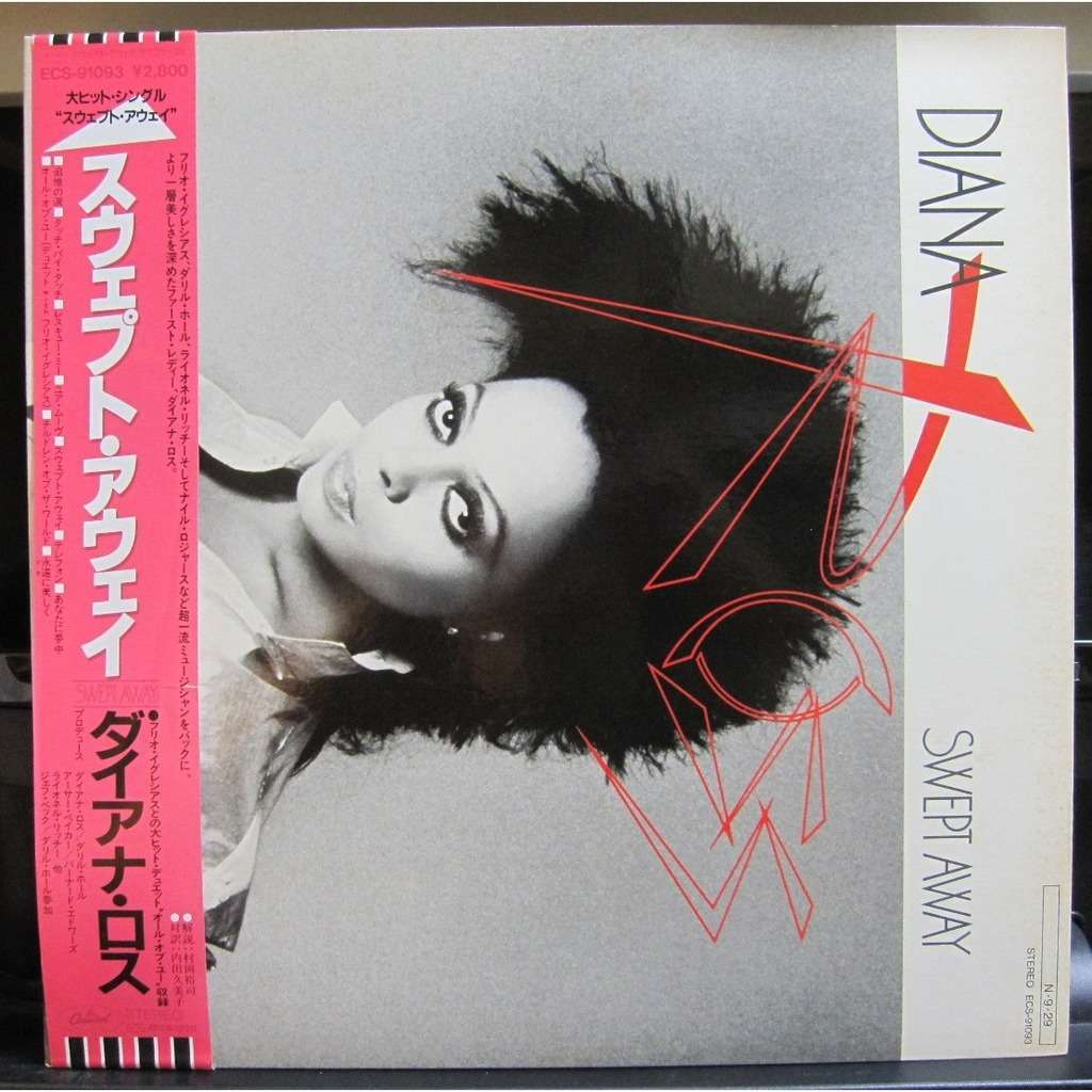 DIANA ROSS Swept Away -white label promo-
