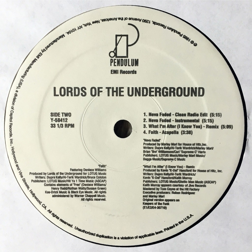 lords of the underground faith / neva faded