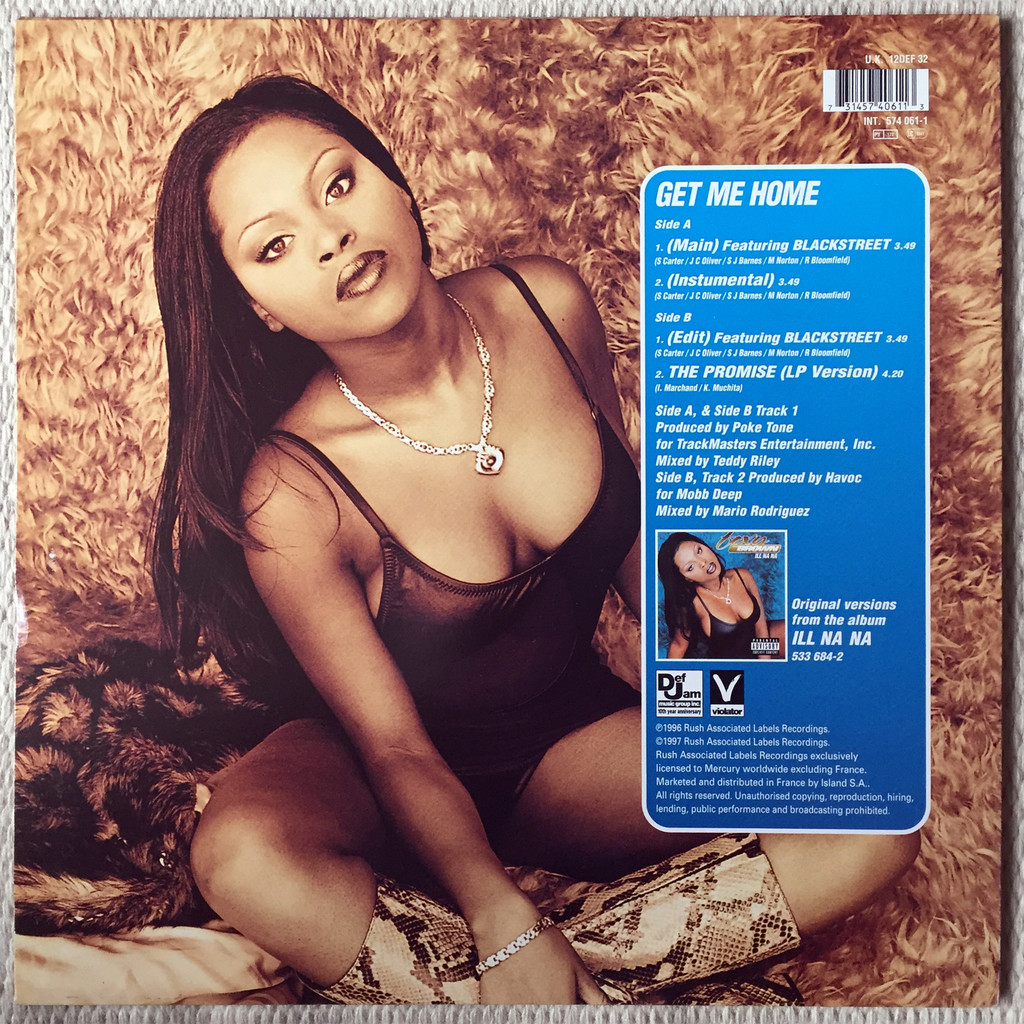 Get Me Home By Foxy Brown 12inch With Oldiers