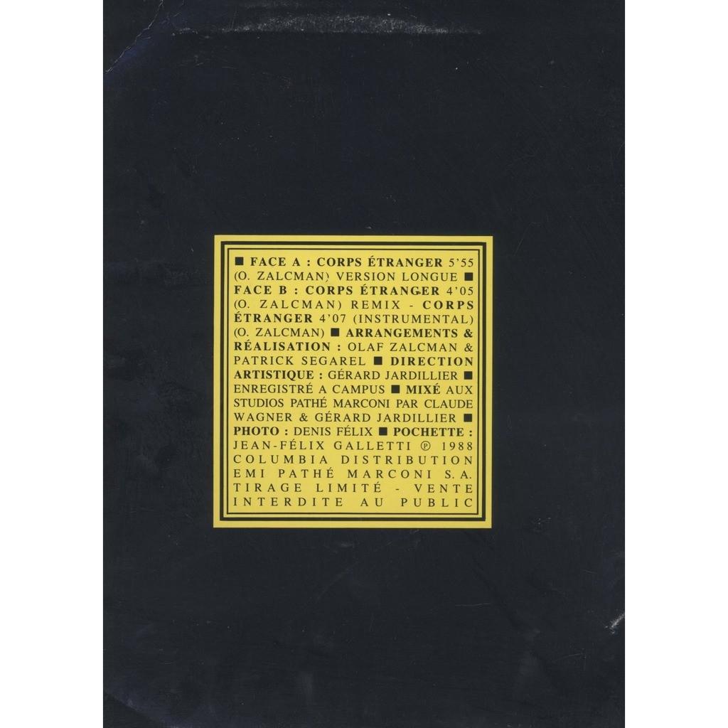 valerie shimra corps etranger ( Promo, Limited Edition )